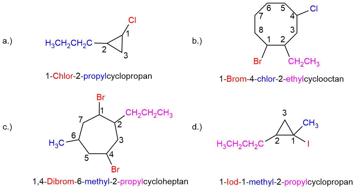 bung-zur-Nomenklatur-der-Cycloalkane-IILösung Nomenklatur der Cycloalkane