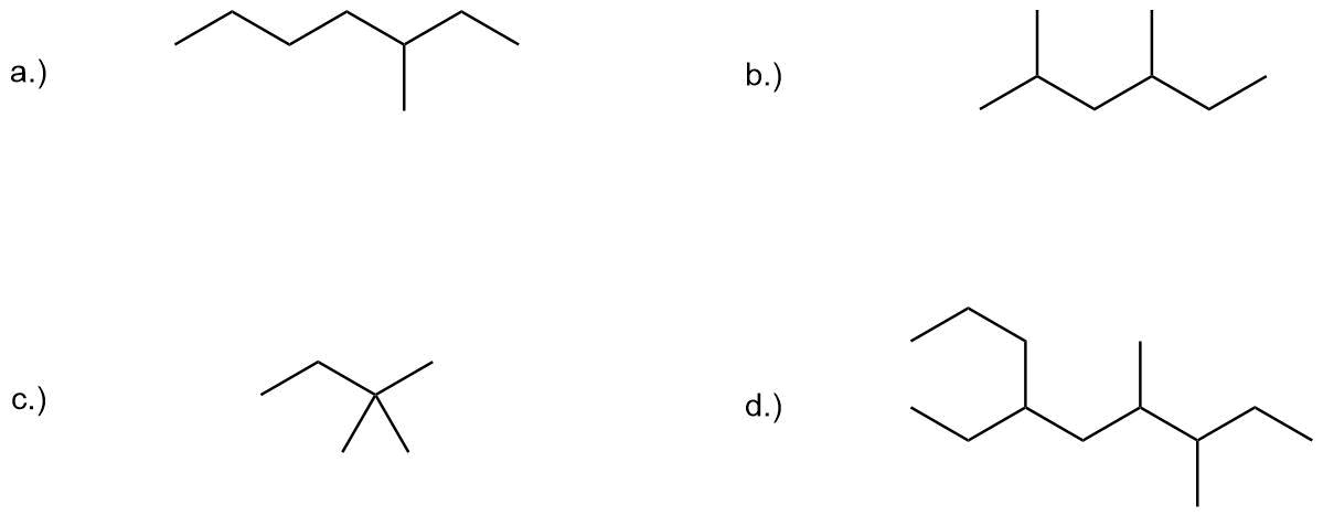 bungen-Teil-I Nomenklatur der Alkane