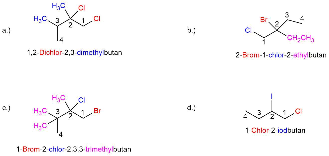 bungen-Teil-III-lösung Nomenklatur der Alkane