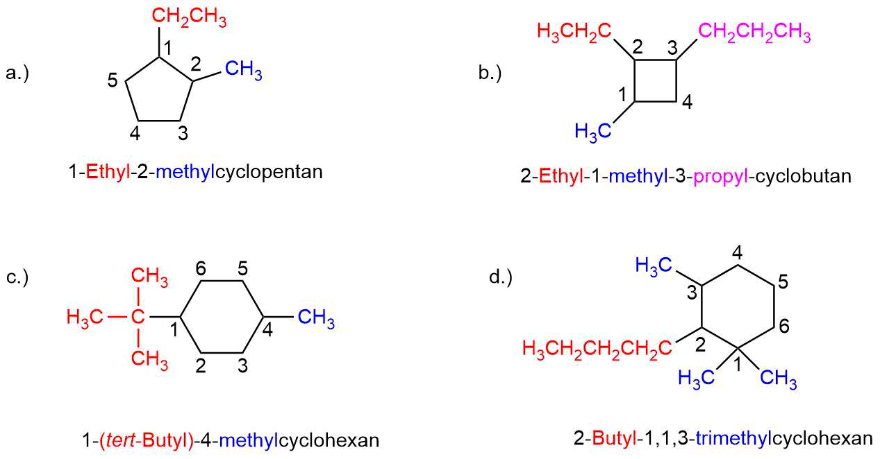 Uebung-zur-Nomenklatur-der-Cycloalkane-I Nomenklatur der Cycloalkane