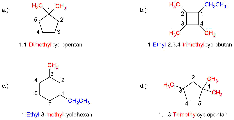 Uebung-zur-Nomenklatur-der-Cycloalkane-ILoesung Nomenklatur der Cycloalkane